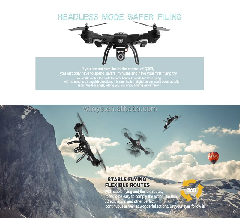 WLTOYS Q303 5.8G FPV 2.4GHz 4CH RC Quadcopter Drone with Altitude