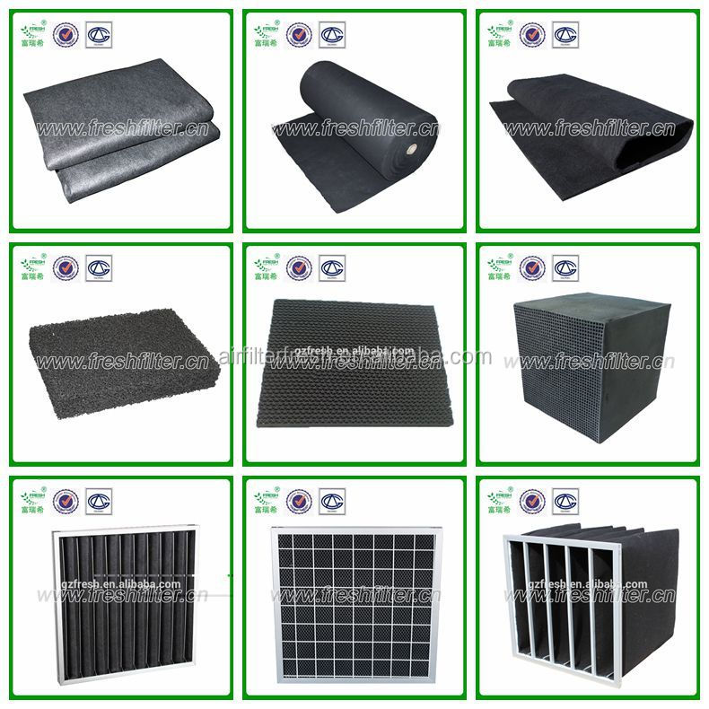 Foshan manufacturer carbon active pocket filter activated carbon filter with carbon fiber