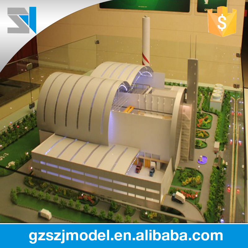 Multimedia effects architectural rendering building scale model