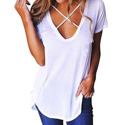 2018 latest design crop top cotton women summer in bulk white plain t shirt