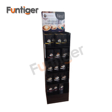Supermarket floor standing cardboard display stand for coffee