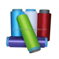 ZHANGJIAGANGdope dyed 100% benang polyester dty/fdy/poy 150d/48f poliester/ polyamide dty