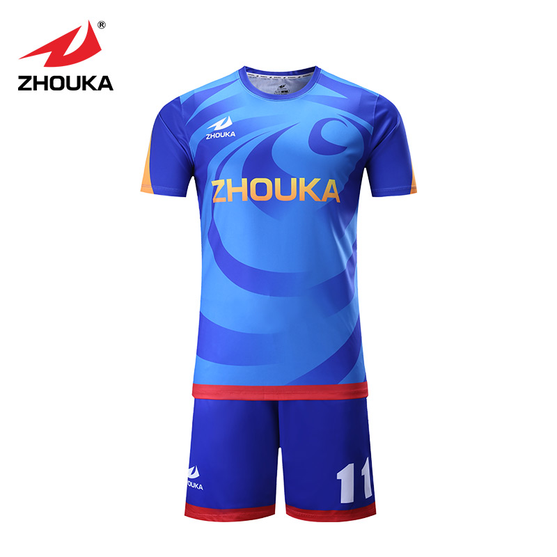 Wholesale custom printing soccer jersey fashion sublimation sportswear for adults and men
