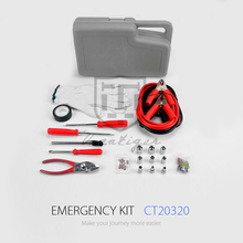 VANTIGER Car Accessories Emergency Tire Repair Kit Road Assistance Kit Booster Cable Roadside Emergency Kit