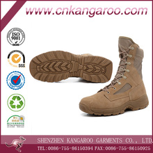 Anti-slip Hard-wearing Breathable Shockproof Wind-proof Pantent Cow Leather Military Desert Boots for Mens