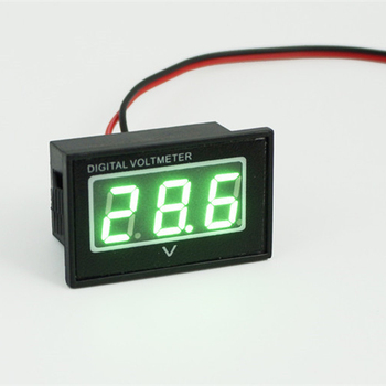 "V40D Waterproof Digital Voltmeter 2.7-30V Car Motor Motorcycle Voltage Panel Meter 0.4"" Green LED"
