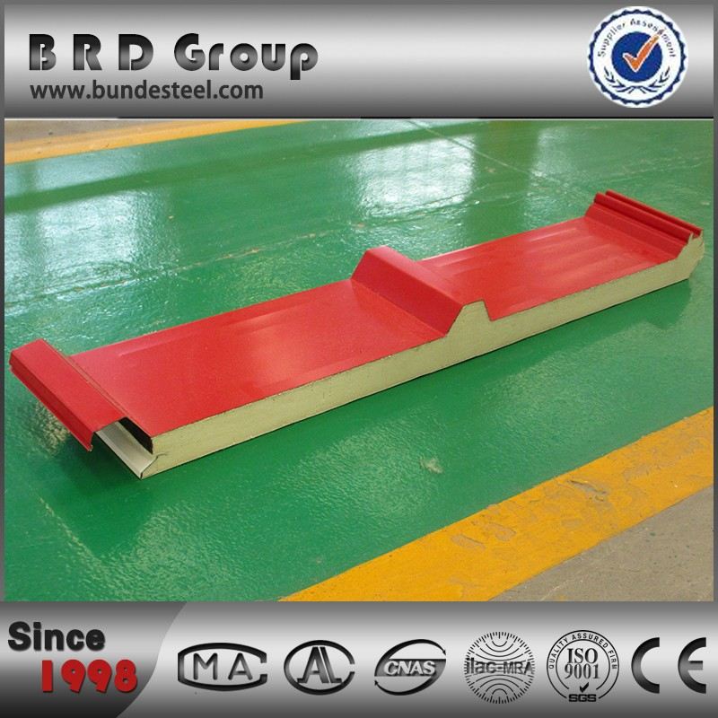 heat and sound insulated foam pu sandwich roof panel