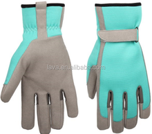 blue leather working gloves for every seasons