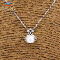 Order from china direct beauty wholesale freshwater pearls silver 925 hand shaped necklace