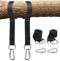 Tree Swing Hanging Kit Hammock Straps Set of 2 Extra Long 1.5m Heavy Duty Swing Straps with Safer Lock Snap Carabiner Hooks