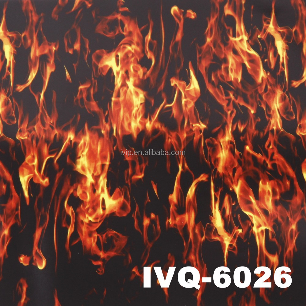 100cm Flame hydrographic Water Transfer printing film Hydro Dipping Foil IVQ-6026
