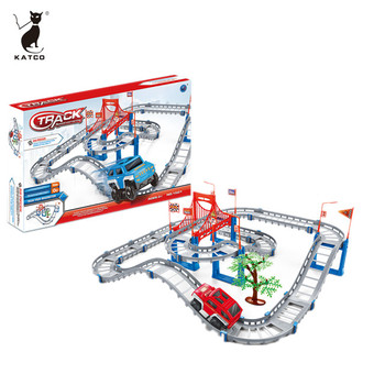 2019 Newest Railcar Series Toy 68 PCS Electric Race Track
