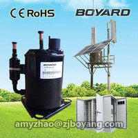 Telecom enclosures and compartments with Lanhai Boyang brushless 48v dc air conditioner compressor