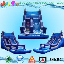 20ft tall dolphin cheap inflatable water slides clearance for kids and adults