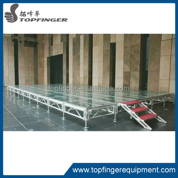 special offer stage acrylic floor, acrylic transparent stage, glass platform stage