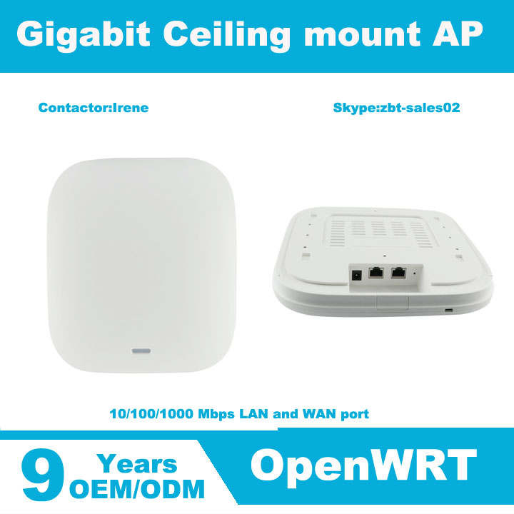 Gigabit dual band wifi access point