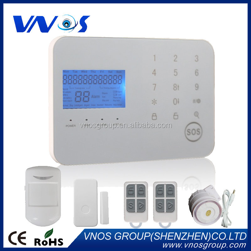 WiFi alarm system, wireless home security intruder alarms& APP control WiFi PSTN alarm system