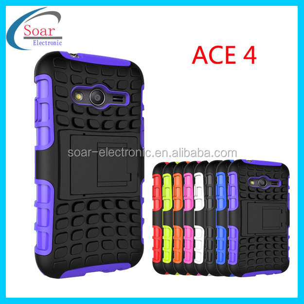 New product tyre cover pc&tpu hybrid case for samsung galaxy ace 4 phone cse