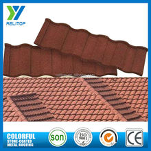 Colorful roof building material sand coated steel roof tiles factory