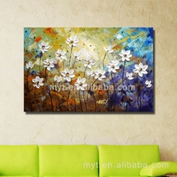 Landscape plants hand made beautiful wall picture beautiful abstract tree oil painting