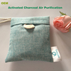 100% Natural Odor Absorber Bamboo Activated Charcoal Air Freshener Bags for Home Usage