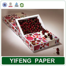 Fancy dry carton packing packaging cardboard vegetables apple fruit boxes