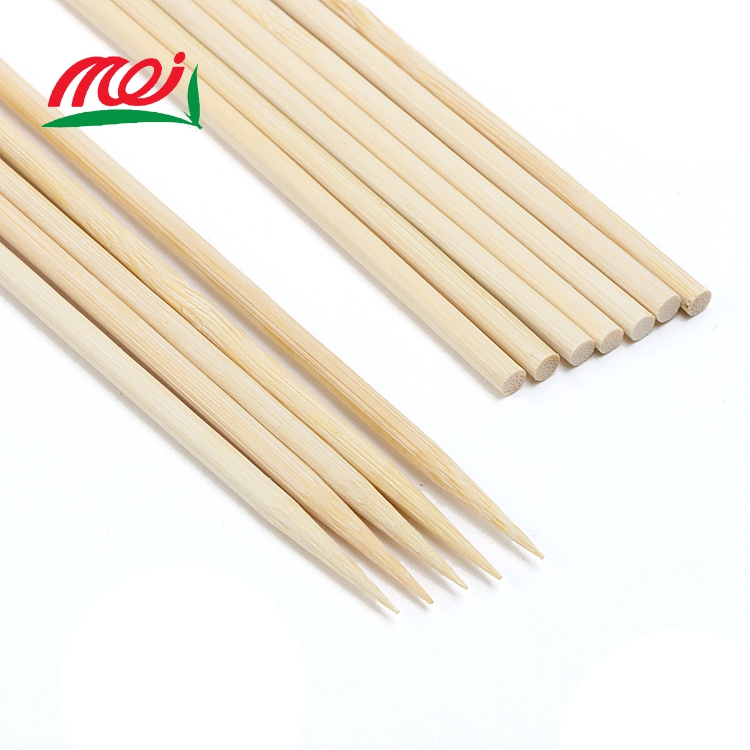 4.0mmX28cm wholesale kabob fan solid bamboo stick , skewer restaurant