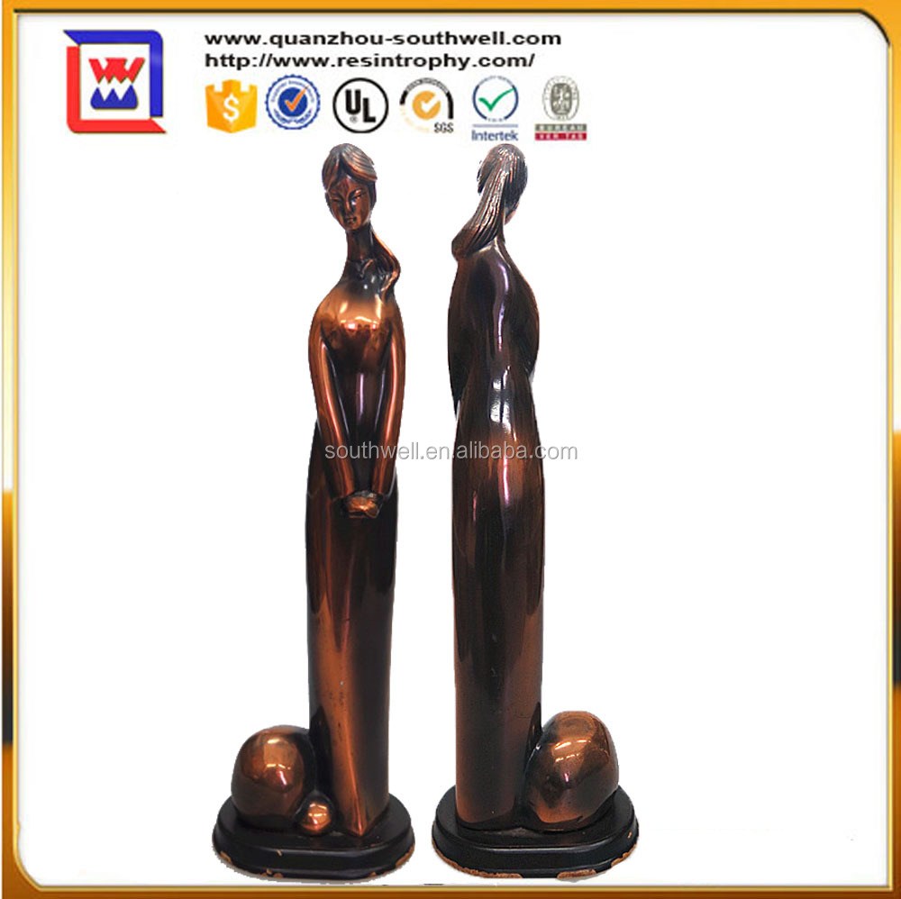 Home and indoor ornament folk custom souvenir womam statues and resin grace woman figurines