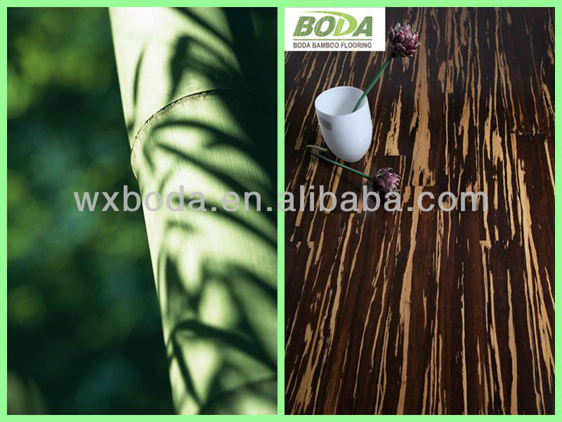 Carbonized Strand Woven Tiger bamboo flooring