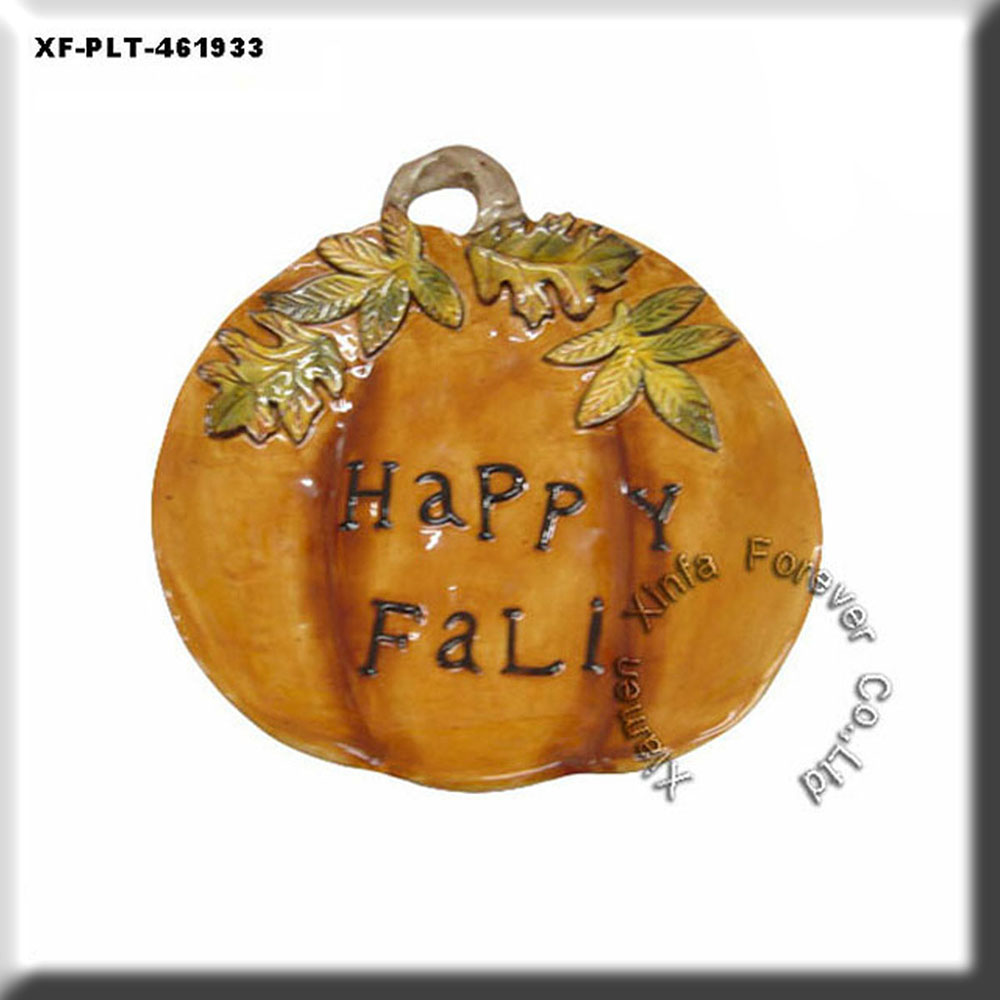 Halloween paint your owm ceramic pumpkin dinner plate