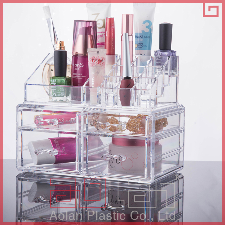 transparent case & boxes storage cosmetic drawer jewlery lipstick holder container makeup acrylic organizer
