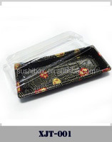 plastic disposable sushi tray to go Japanese food packing box