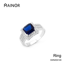Christmas white gold plated jewelry gemstone 925 silver jewellery finger ring