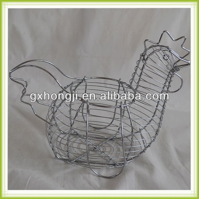 Top quality Wire chicken shaped egg basket