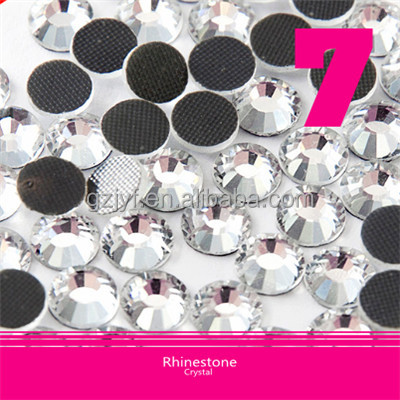Hot Fix Korean Rhinestone Ss6 2mm Clear Crystal Round High Quality