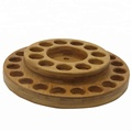 Round Multiple Layer Custom Holes for Essential Oil Wood Display Rack