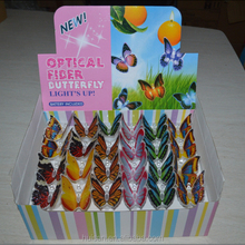2015 newest fiber optic light butterfly decoration,light up butterfly decoration, butterfly decoration