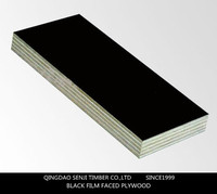 Laminated black 2 times hot press construction film faced plywood 18mm