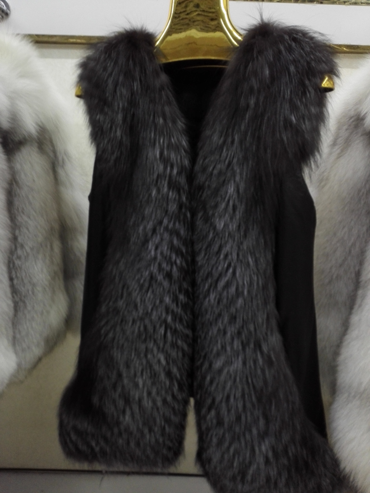 2015 new style factory silver fox fur vest/lady's vest