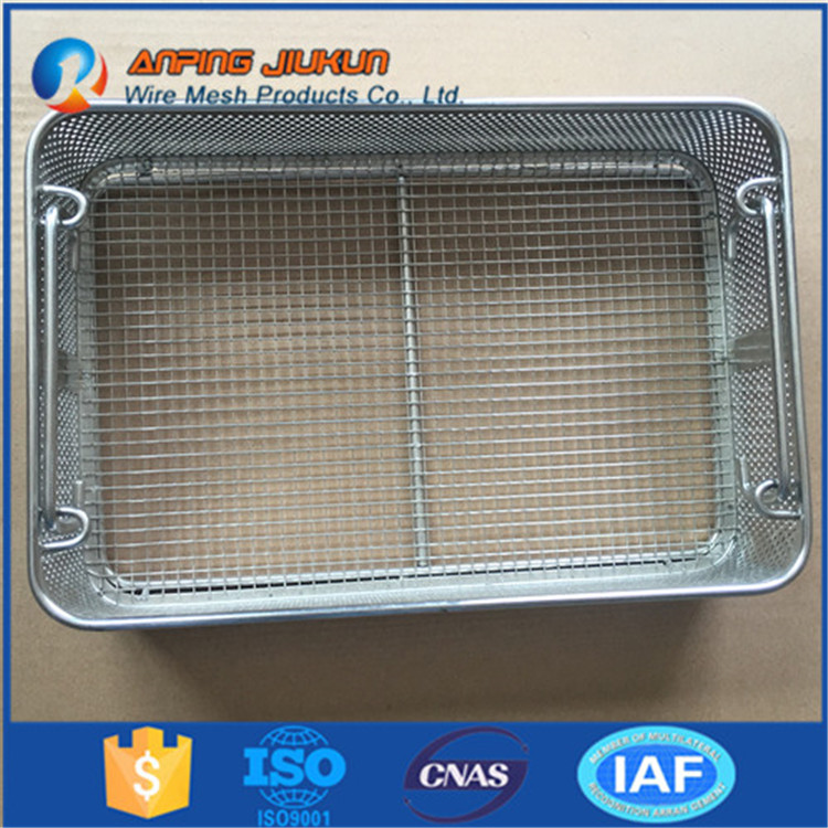 Hot selling kichen cooking wire mesh basket ss316 medical disinfect basket