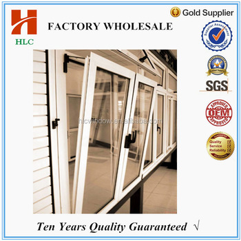Aluminum double glass tilt and turn window for sale