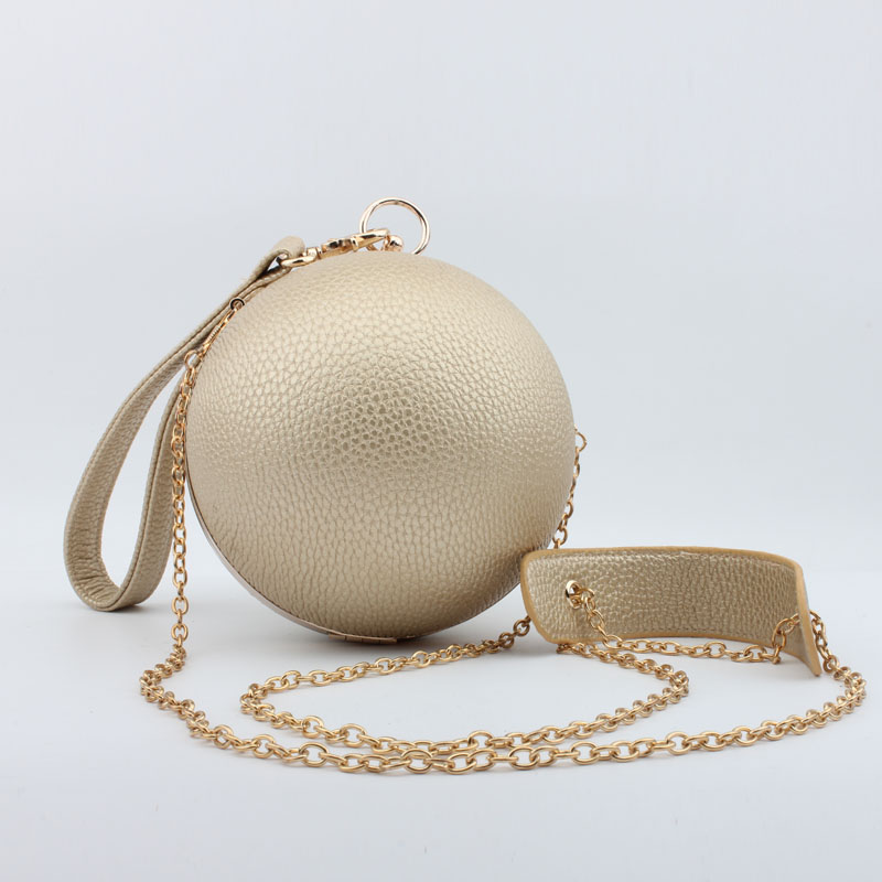 2016 New trendy dinner party women clutch evening bags round shape evening bags