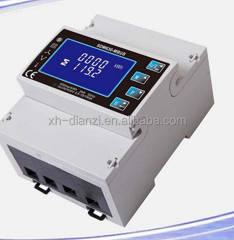 Rogowsi coils with Three Phase Multifunction Household Mbus Kwh Electricity Meter XH-Sdm630-Mbus