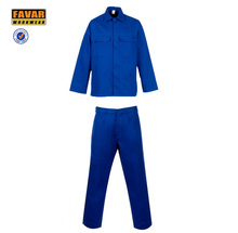 two piece royal blue coveralls FR work jacket and pant worksuit workwear for men