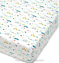 Hot sales child's stretch jersey fitted sheet