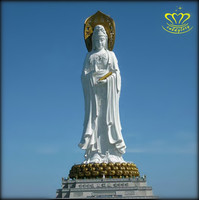 Hot sale Imitation Antique Marble Standing Tall Buddha Statue