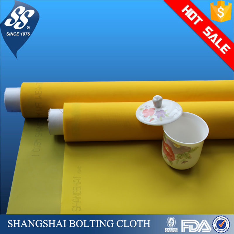 white yellow 110 120 135 150 195 230 250 380 mesh nylon polyester monofilament silk screen printing mesh