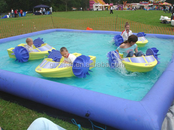 commercial rental palm tree inflatable pool