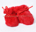 CX-SHOES-07C European Genuine Rabbit Fur Baby Shoes