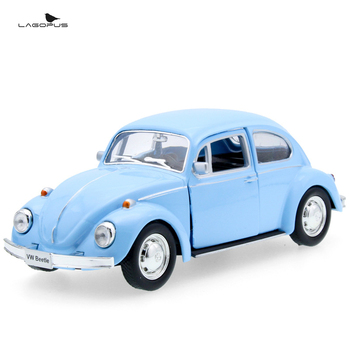 christmas gift lagopus Toy Car Mini Beetle Vintage Car Zinc Alloy Model Car Sound&light Pull Back Toy Doors Opened Collection